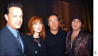 Tom Hanks, Patti Scialfa, Bruce Springsteen and Steven Van Zandt