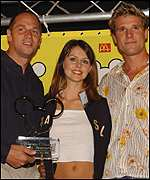 Steve Redgrave and James Cracknell with Beverly Turner
