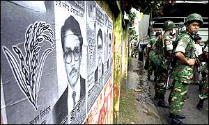 Bangladesh election campaign posters