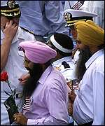 Sikh mourners