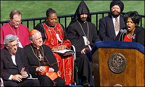 Oprah Winfrey and religious leaders
