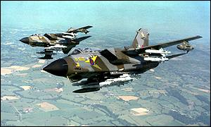 Tornado GR1 ground attack aircraft