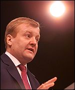 Charles Kennedy at the podium