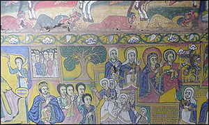 Painting in one of Ethiopia's many monasteries