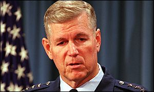 Air Force General Richard Myers gives a briefing at the Pentagon, Jan 2000