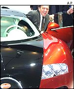 Gerhard Schroeder at the Frankfurt Motor Show