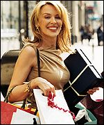 Kylie Minogue goes shopping