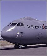 US Air Force Special Forces Globemaster transport plane