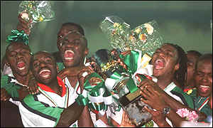 Cameroon lift the Nations Cup trophy last year, which they were allowed to keep