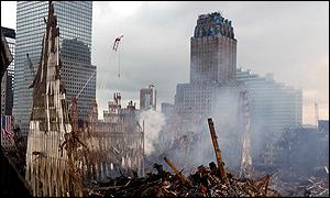 World Trade Center rubble
