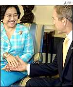 Megawati Sukarnoputri and George W Bush