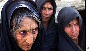 Some of the Afghan refugees who have already arrived in Quetta