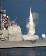US cruise missile launch