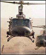 US helicopters in Vietnam