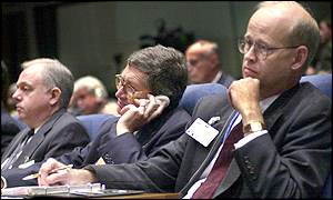Members of the US delegation to the ICAO (from left) Mike O'Neill, Don Koran and Frank Price