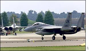 US warplanes at RAF Lakenheath, UK