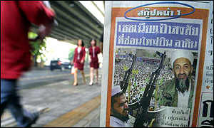 A Thai newspaper carries a scoop on Bin Laden