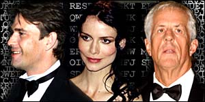 Apted (right) directed Dougray Scott and Saffron Burrows
