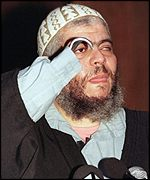 Abu Hamza who lost an arm and an eye in Afghanistan