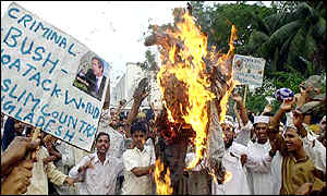 Protest supporting Osama Bin Laden