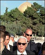 Ariel Sharon's visit to the Haram el-Sharif, or Noble Sanctuary, a year ago