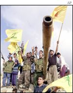 Fighters from the Lebanese Hezbollah group