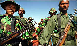 Militiamen in East Timor