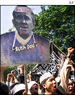 Image of George Bush labelled