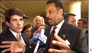 Reverend Jackson was involved in the release of three US servicemen in the Balkans two years ago
