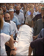 The funeral of Salit Shitreet, killed in the West Bank