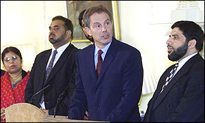Tony Blair with the British Muslim Council