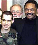 Jesse Jackson and US soldier released from captivity in Kosovo 1999