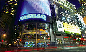 Nasdaq market site, located on Times Square in New York City