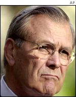 Defence Secretary Donald Rumsfeld
