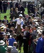 Reid returns to the Epsom winning enclosure on Dr Devious