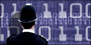 A policeman with computer graphics BBC