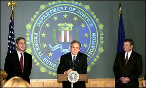 President Bush at the FBI