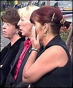 Mourners at Leanne Tiernan's funeral