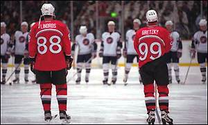 Wayne Gretzky and Eric Lindros