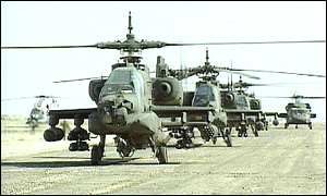 US Apache helicopters during the Gulf War