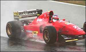 Alesi is famed for his wet weather driving skills