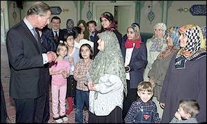 Prince Charles at the Suleymaniye Mosque in east London