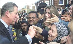 Prince Charles and Hackney residents