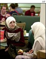 Muslim students at a US college