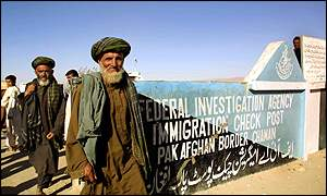 Afghans crossing border at Chaman