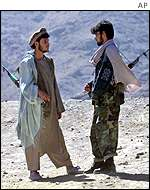 Northern Alliance fighters north of Kabul