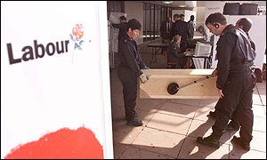 bbc news labour protest targets labour conference