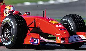 Schumacher was more than two tenths of a second clear