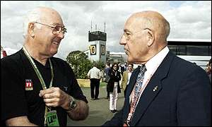 Murray and Stirling Moss at this year's British GP