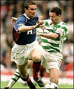 Barry Ferguson and Paul Lambert clash